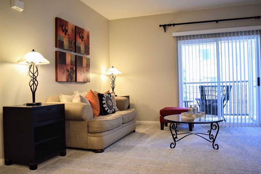 furnished living room area