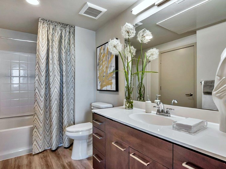 Bathroom  at The Curve at Melrose Luxury Apartments, Phoenix
