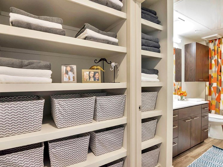 Closet Built in Organizers at The Curve at Melrose Luxury Apartments, Arizona