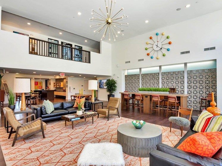 Clubhouse at The Curve at Melrose Luxury Apartments, Phoenix