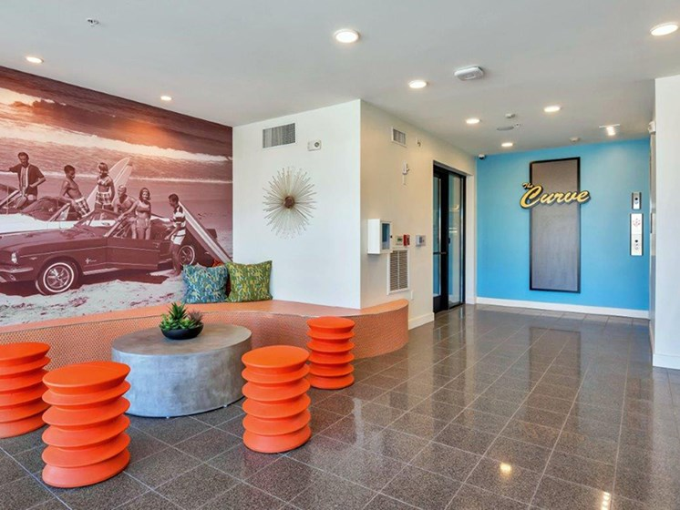 Elevator access for all homes at The Curve at Melrose Luxury Apartments, Phoenix