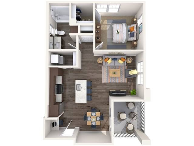 L1 Floor Plan at Copper Falls Apartments, P.B. BELL Assets, Arizona