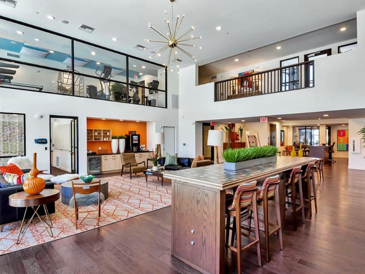 Clubhouse at The Curve at Melrose Luxury Apartments, Phoenix, AZ, 85013