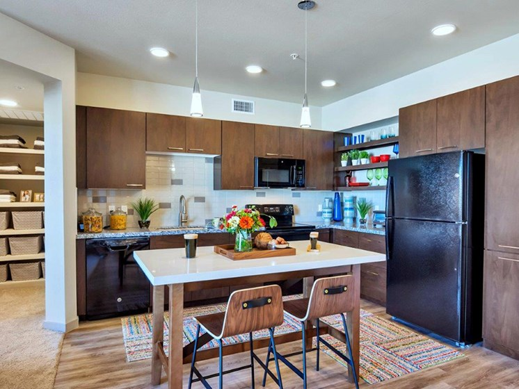 Large Kitchen With Pantry at The Curve at Melrose Luxury Apartments, Phoenix, AZ