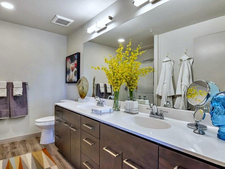 Master Bathroom at The Curve at Melrose Luxury Apartments, Phoenix, AZ