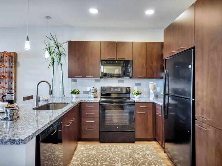 Luxury Kitchen at The Curve at Melrose Luxury Apartments, Phoenix, AZ