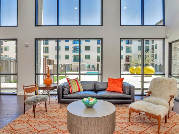 Resident Lounge at The Curve at Melrose Luxury Apartments, Arizona