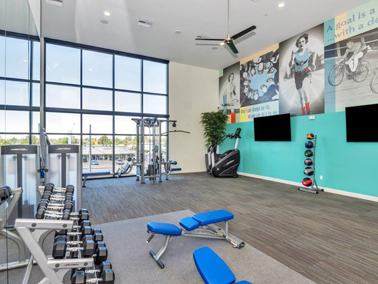 Fitness Center at The Curve at Melrose Luxury Apartments, Arizona