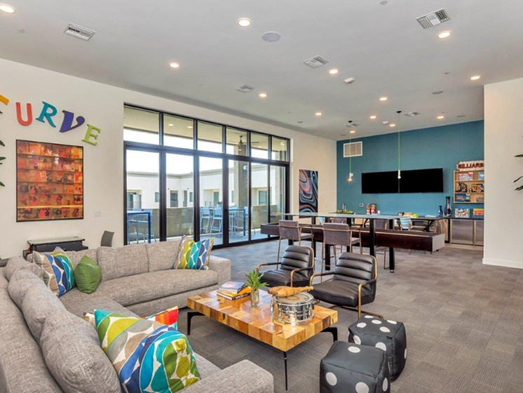The perch clubhouse at Melrose Luxury Apartments, Phoenix, AZ