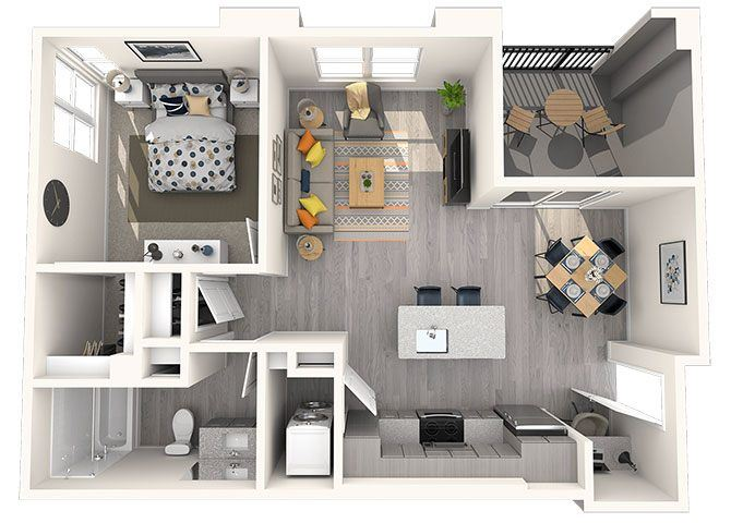L2 Floor Plan at Grayson Place Apartments, P.B. BELL Assets Management, Goodyear, 85338