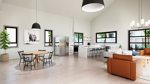 Clubhouse Kitchen Rendering