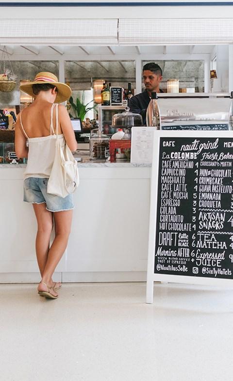 Woman Getting Coffee