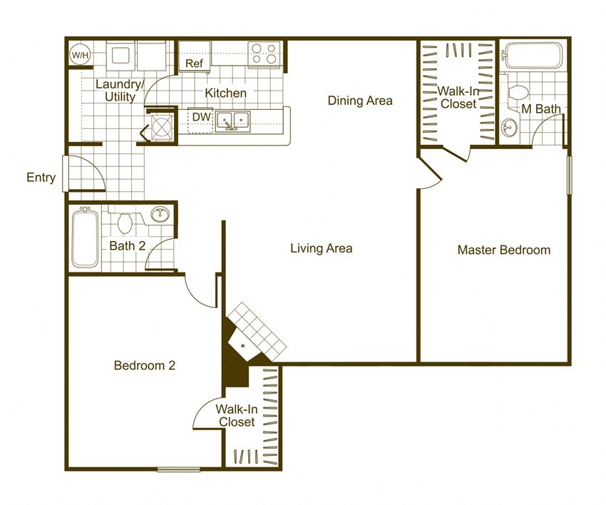Maple 2Bed_2Bath at The Timbers, Virginia, 23235