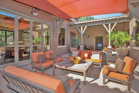 Shaded Outdoor Courtyard Area at Painted Trails, Gilbert, 85295