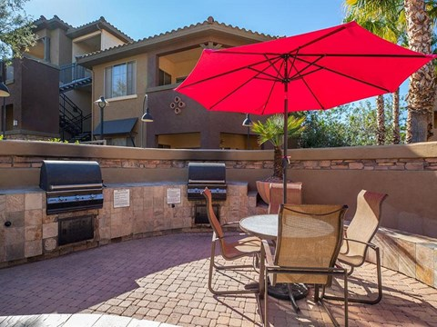 Umbrella Shaded Chairs By Pool at Painted Trails, Arizona, 85295