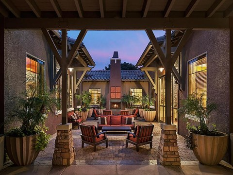 Courtyard Patio With Ample Sitting at Painted Trails, Arizona, 85295