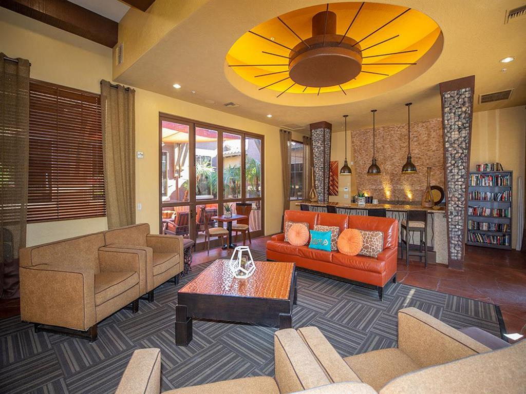 Posh Lounge Area In Clubhouse at Painted Trails, Gilbert, 85295