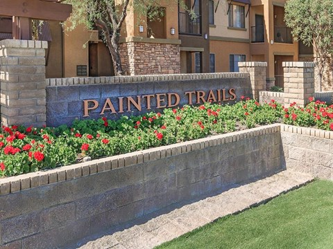 Welcoming Property Signage at Painted Trails, Gilbert, 85295