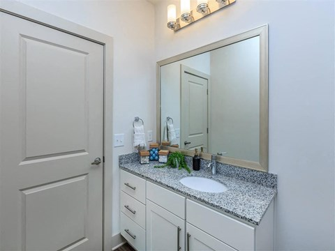 Designer Granite Countertops In All Bathrooms at Berewick Pointe, Charlotte, NC, 28278