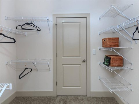 Generous Berewick Pointe Walk-In Closets With Shelving in Charlotte Apartment Rentals for Rent