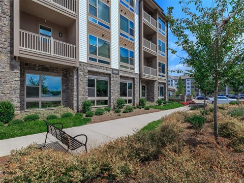 Safe Walking Paths In Courtyard at Berewick Pointe, Charlotte, NC
