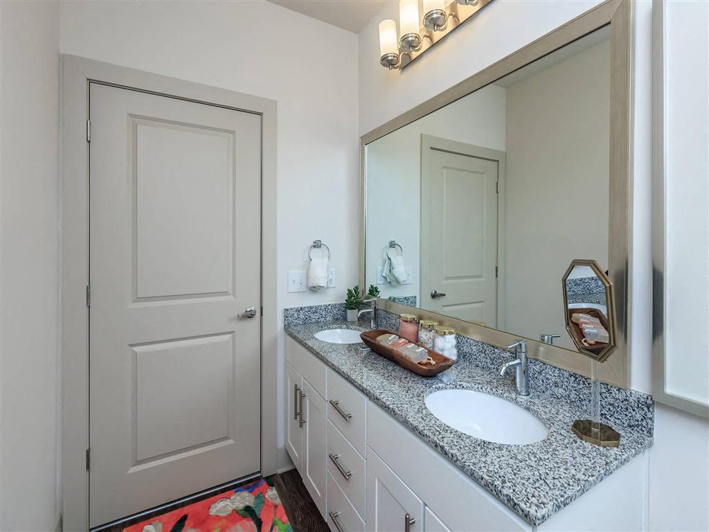 Renovated Bathrooms With Quartz Counters at Berewick Pointe, Charlotte, North Carolina