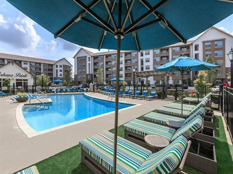 Lounge Swimming Pool With Cabana at Berewick Pointe, Charlotte