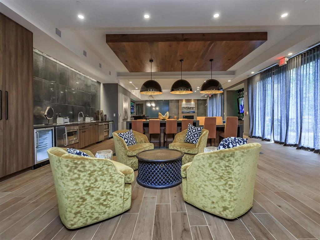 Posh Lounge Area In Clubhouse at Berewick Pointe, Charlotte, North Carolina