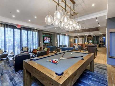 Billiards Table In Clubhouse at Berewick Pointe, Charlotte