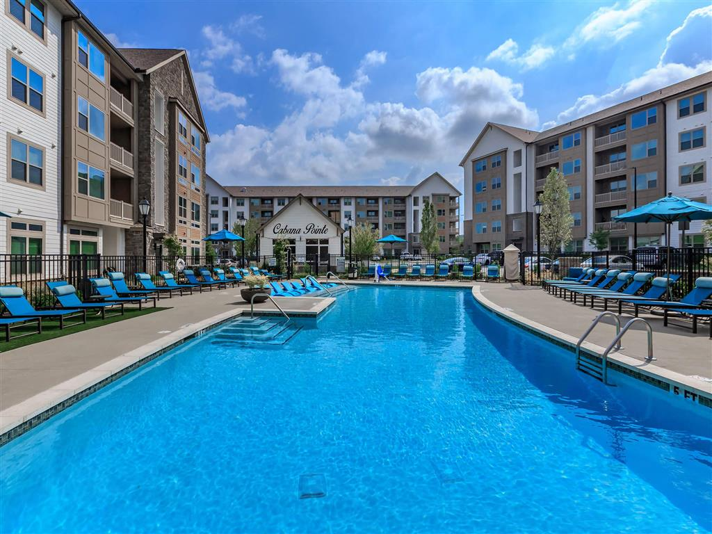 Saltwater Pool, Spa, And Sundeck With Cabanas at Berewick Pointe, Charlotte, North Carolina