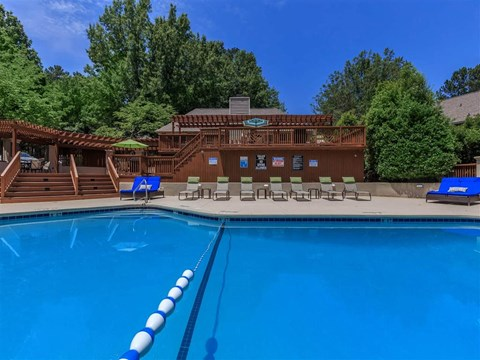 Glimmering Pool at Edwards Mill Townhomes & Apartments, Raleigh, 27612