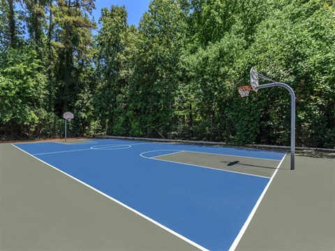 Full Outdoor Basketball Court at Edwards Mill Townhomes & Apartments, Raleigh, North Carolina
