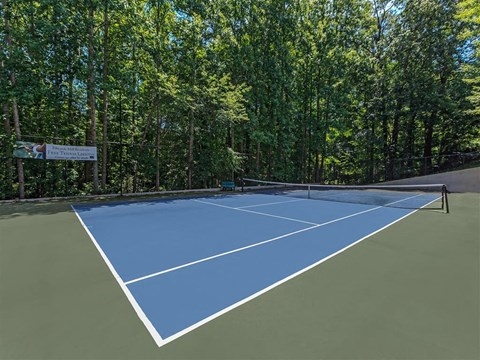 Full Sized Tennis Court at Edwards Mill Townhomes & Apartments, Raleigh
