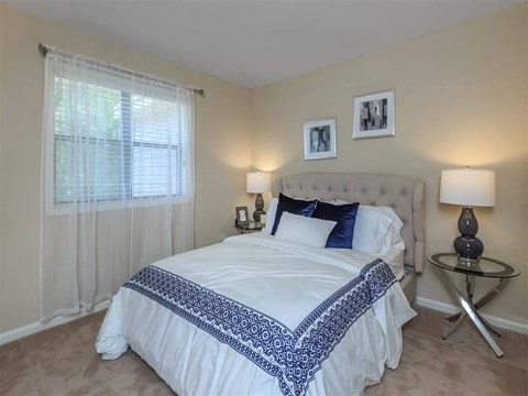 Cozy Bedroom at Edwards Mill Townhomes & Apartments, Raleigh, North Carolina