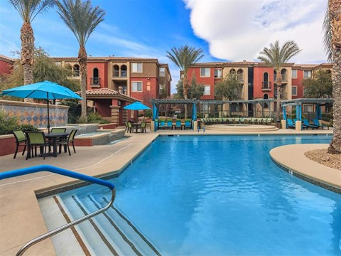 Picturesque Pool And Cabana Setting at Montecito Pointe, Las Vegas, NV