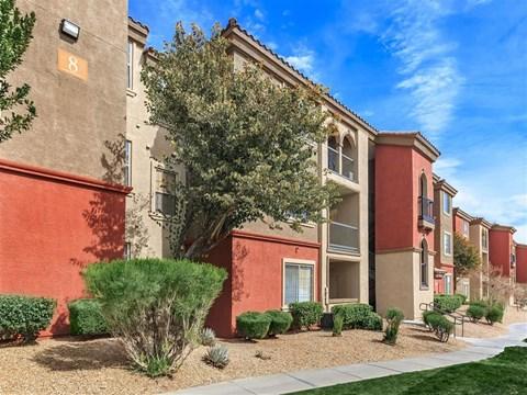 Elegant Exterior View of Montecito Pointe in Las Vegas, NV Apartment Rentals