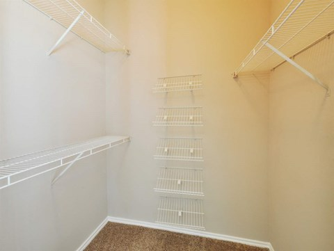 Roomy Walk In and Reach In Closets at Stoneleigh on Cartwright Apartments, J Street Property Services, Texas, 75180