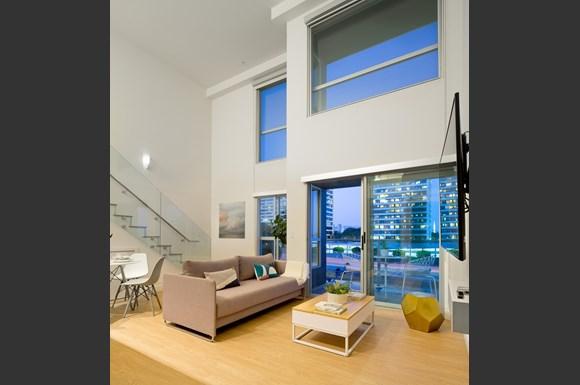 West-Los-Angeles-1759-Beloit-Loft-Living-room-Evening