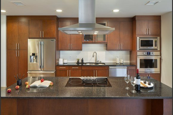 Westwood Luxury Apartments Wilshire Victoria Unit 502 Luxury Kitchen With Island Granite Countertops Upgraded Appliances