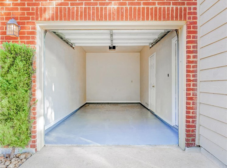 Attached garage of Saddle Brook Apartments in North Dallas, TX, For Rent. Now Leasing 1, 2 or 3 bedroom apartments.