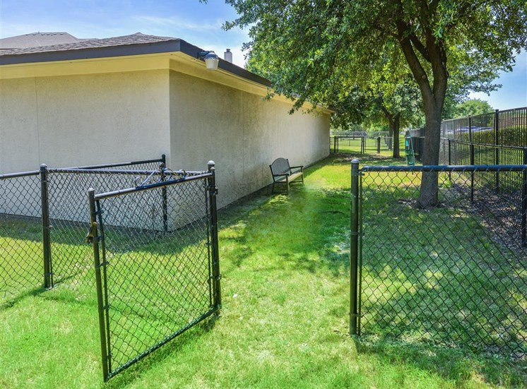 Gated dog run at Cypress Lake, a very pet friendly community - Now leasing 1, 2 and 3 bedroom apartments.