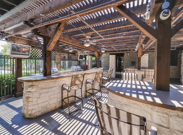 BBQ Gilling Patio at Cypress Lake at Stonebriar Apartments in Frisco, TX, For Rent. Now leasing 1, 2 and 3 bedroom apartments.