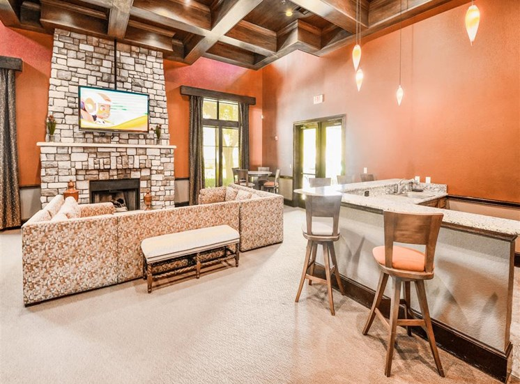 Community kitchen at Cypress Lake at Stonebriar Apartments in Frisco, TX, For Rent. Now leasing 1, 2 and 3 bedroom apartments.