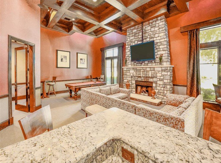 Resort amenities in huge Clubhouse at Cypress Lake at Stonebriar Apartments in Frisco, TX, For Rent. Now leasing 1, 2 and 3 bedroom apartments.