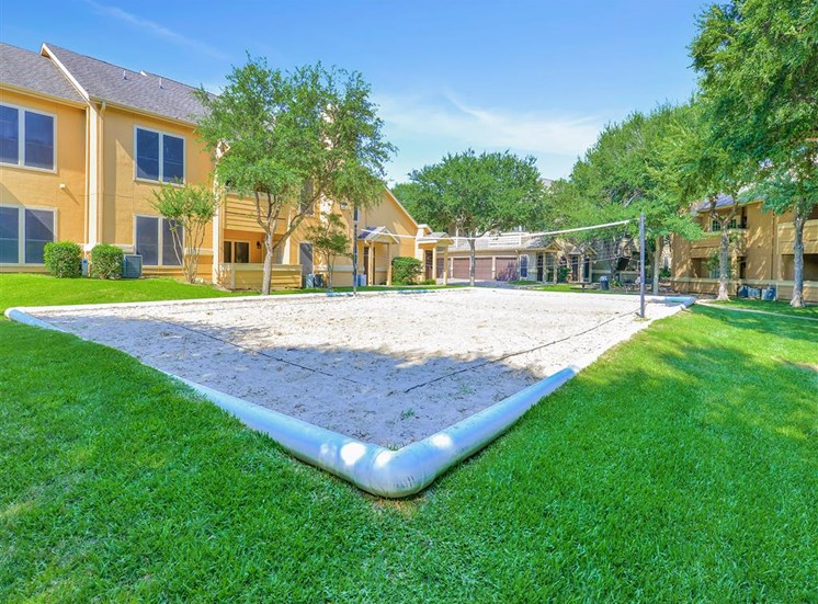 Sand Volleyball Court at The Winsted at Valley Ranch in Irving, TX, For Rent. Now leasing 1 and 2 bedroom apartments.