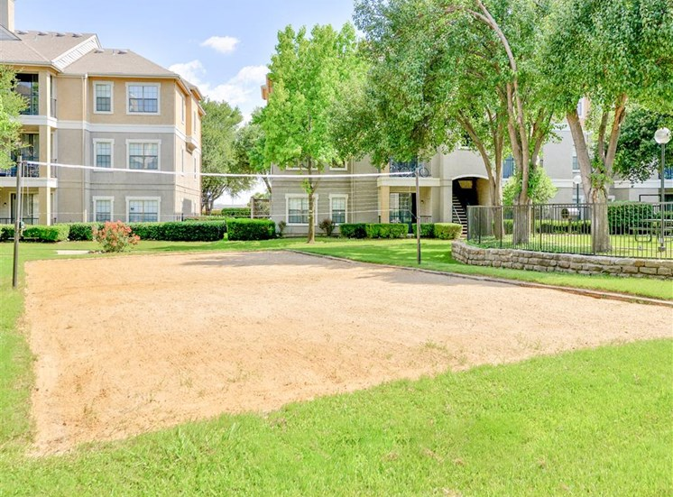 Sand Volleyball Court of Saxony at Chase Oaks in North Plano, TX, For Rent. Now leasing 1, 2 and 3 bedroom apartments.