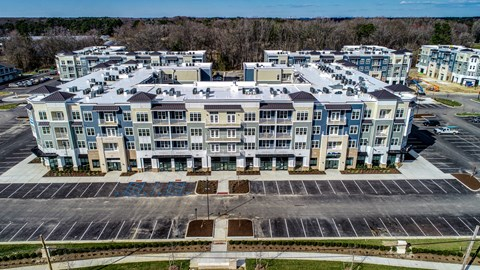 Aerial view of builing 4 at 3800 Acqua
