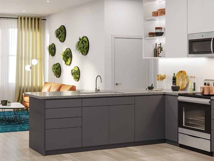 Modern Kitchen at Link Apartments® Linden, Chapel Hill, NC