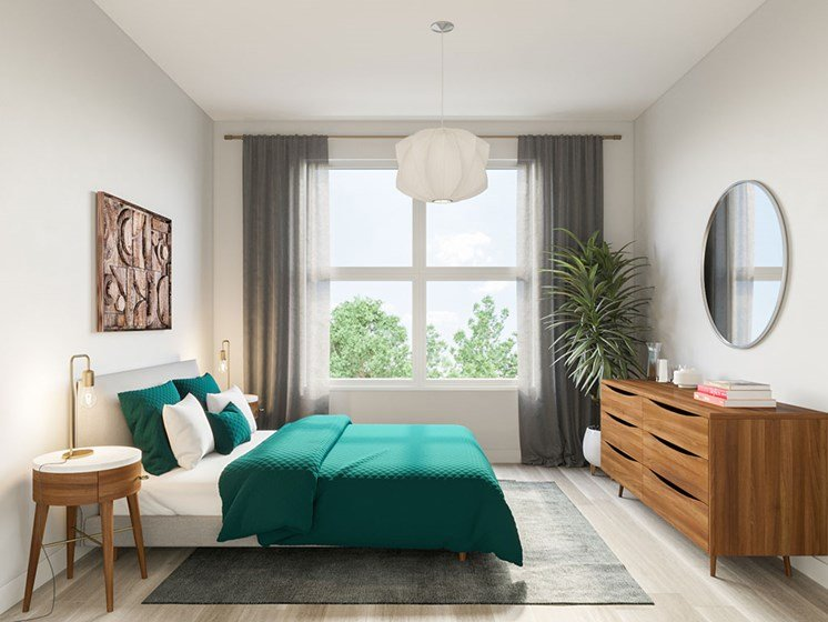 Beautiful Bright Bedroom With Wide Windows at Link Apartments® Linden, Chapel Hill, NC, 27517