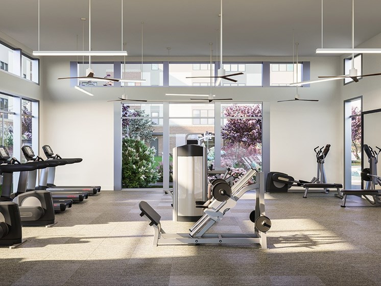 Modern Fitness Center at Link Apartments® Linden, Chapel Hill, NC, 27517